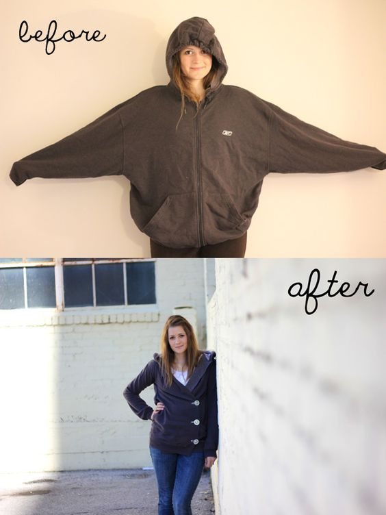 diy: sweatshirt liposuction