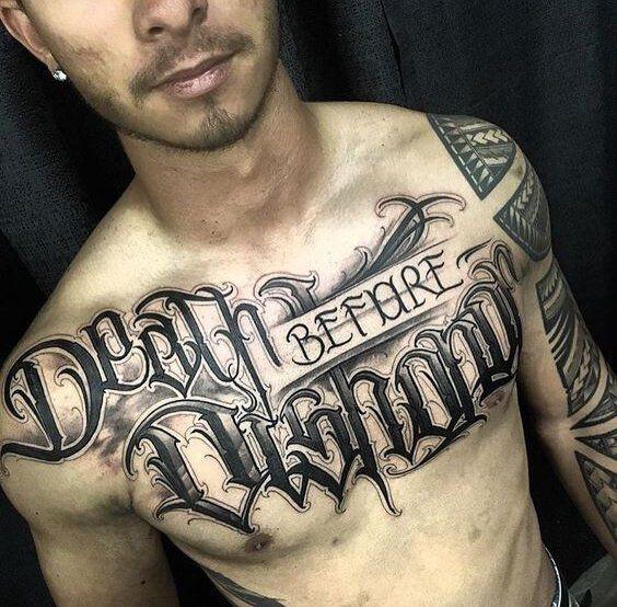 Tattoo Font Ideas For Men Chest Tattoo Men Chest Piece Tattoos Tattoos For Guys