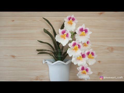 Bunga Anggrek Dari Kain Flanel Cara Membuat Bunga Anggrek Pansy Miltoniopsis Dari Kain Flanel Youtube Bunga Buatan Bunga Pola Bunga