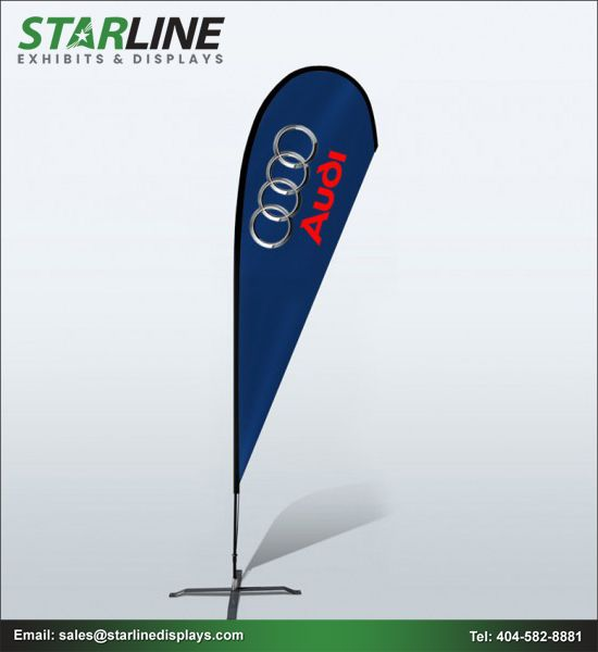 Enhance The Brand Value With Outdoor Printed Advertising Flags At Starline Displays Custom Banners Feather Flags Banner Stands