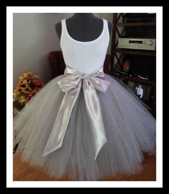 Silver Tutu Skirt