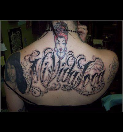 Vida Loca, Mi Vida, Chicanas, Sabes, Flor, Estilo, Tinta, Tatuajes Kat Von, Espalda Tatuajes