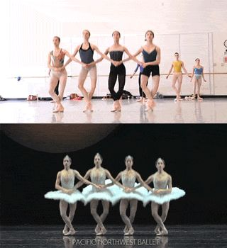 pnbawesome:Pacific Northwest Ballet's Four Little Swans Hypnotic