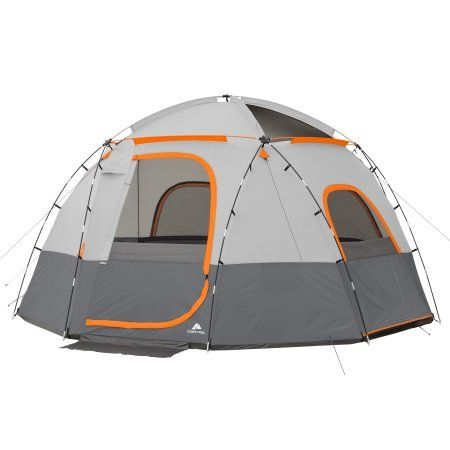 Ozark Trail 12 X 12 6 Person Lighted Sphere Tent Walmart Com Ozark Trail Tent Camping Bed