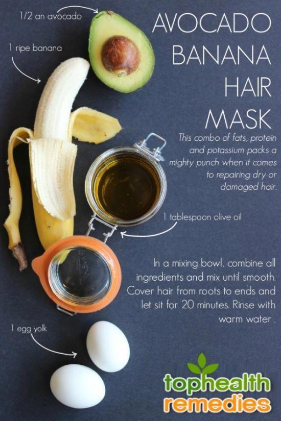 Avocado Banana Hair Mask Olive Oil Honey Coconut Oil Beautydiyhoney Coconutoilhairmask Banana For Hair Banana Hair Mask Homemade Hair Products