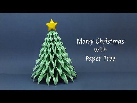 110 Diy Paper Christmas Tree Making At Home Christmas Crafts Ideas Youtube Diy Paper Christmas Tree Paper Christmas Tree Diy Paper