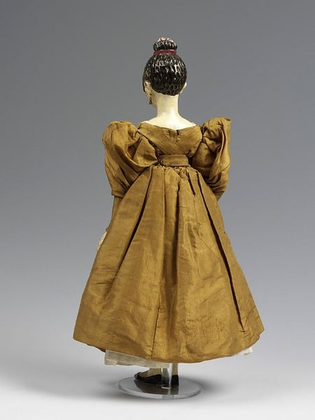Doll in fashionable dress | V   ca.1830  made: Germany  dressed: England, Britain