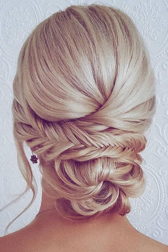 42 Wedding Hairstyles - Romantic Bridal Updos ❤️ romantic bridal updos wedding hairstyles low bun with braids on blonde hair hairbyhannahtaylor #weddingforward #wedding #bride #weddinghairstyles #romanticbridalupdosweddinghairstyles