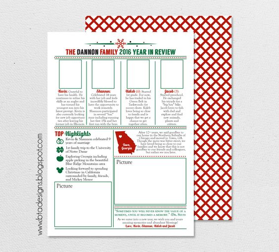 Year in Review Infographic Card, Christmas Card, Holiday Card, New ...