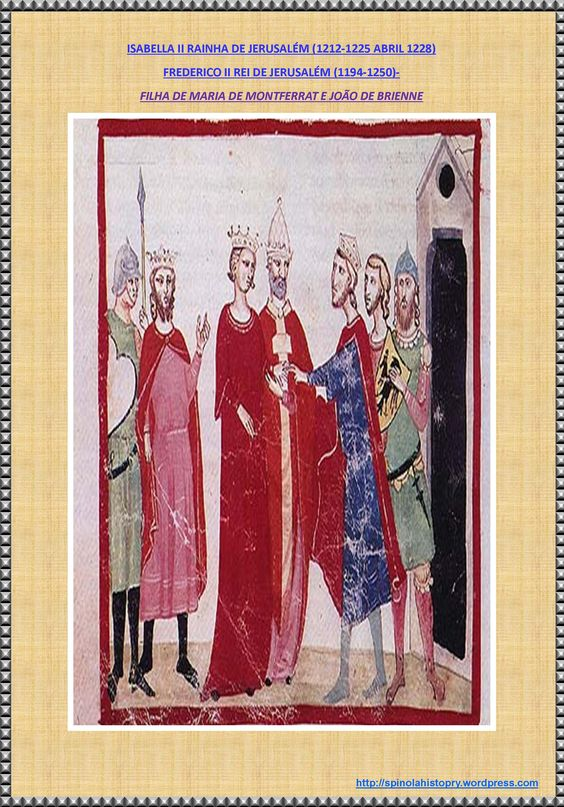 QUADRO DE ISABELLA II DE JERUSALÉM E FREDERICO II REI DE JERUSALÉM