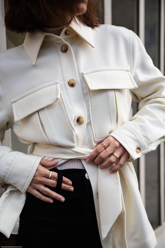 Belted Workwear Jacket I More on viennawedekind.com