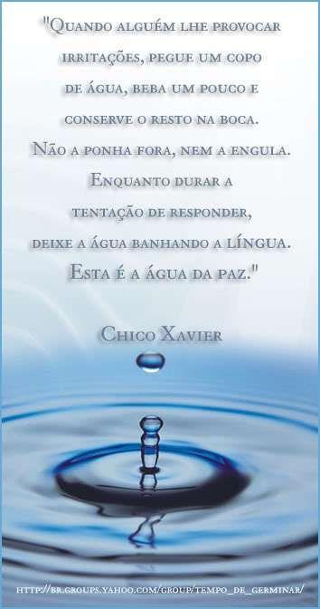 Agua da paciência – MENSAGENS ESPÍRITAS: