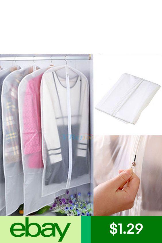 Clothes Dress Garment Dustproof Cover Bags Suit Coat Travel Storage Protector LJ