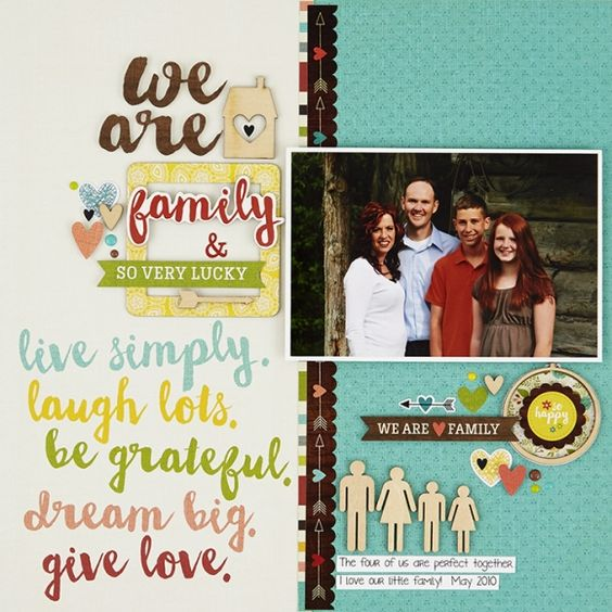 Guiseppa Gubler's Layout using Simple Stories We are Family collection.