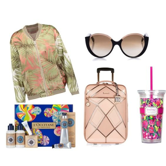 safe travels by lenahcaruana on Polyvore featuring art, suitcase, loccitane, MaisonScotch, travels and Coffeetumbler: