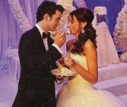 Kevin and Danielle Jonas wedding day