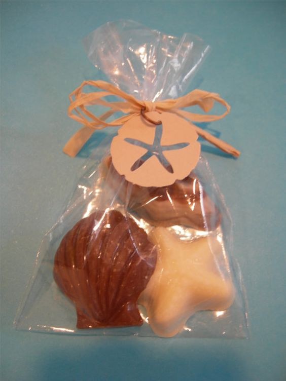 Chocolate Shells Favor For Beach Party Or Wedding