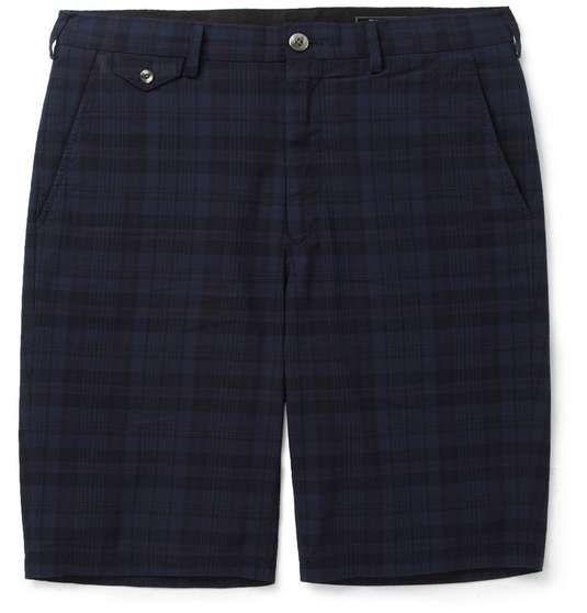 Beams Plus   Slim-Fit Plaid Cotton Shorts #menswear #medsstyle #mensfashion #beamsplus #mrporter