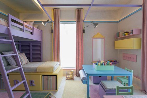 Decoração Quarto Infantil Gêmeas - Beliche (Arquiteto: Diego Revollo)