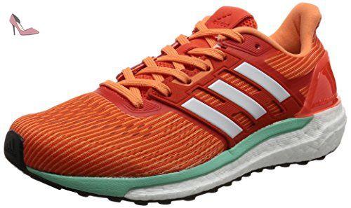 Questar, Chaussures de Running Entrainement Femme, Gris (Mid Grey/LGH Solid Grey/Easy Orange), 36 2/3 EUadidas