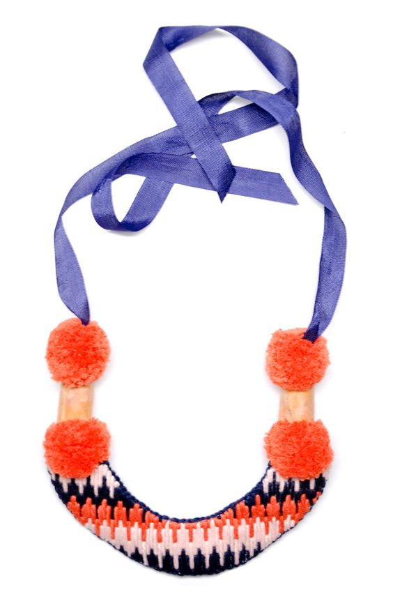 mountain necklace in coral, $158