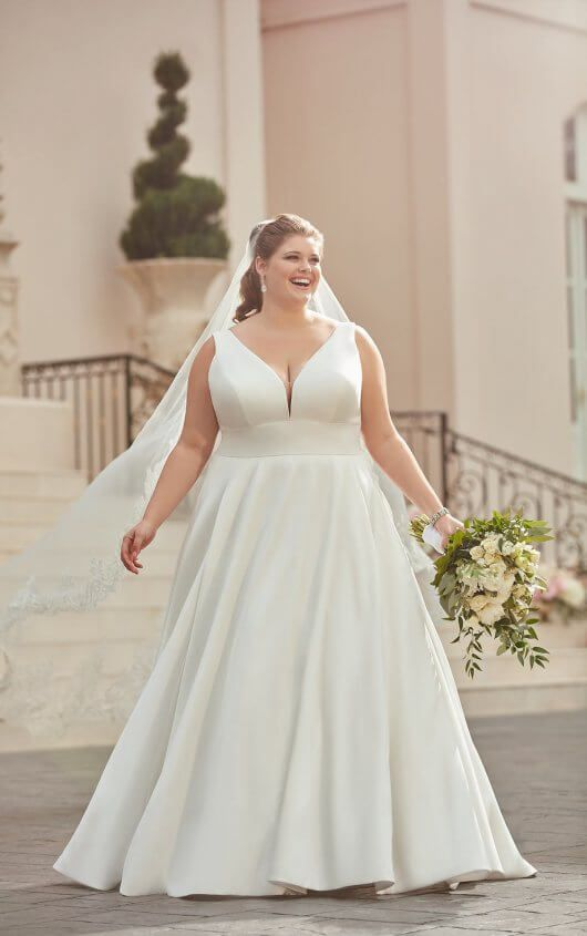 Royal Inspired Simple Plus Size Wedding Dress Stella York Wedding Dresses Wedding Dress Styles Plus Size Wedding Gowns Best Wedding Dresses