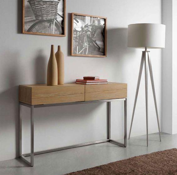 Cónsola D Emadera Natural Patas Metálicas Muebles Muebles De Entrada Diseño De Muebles
