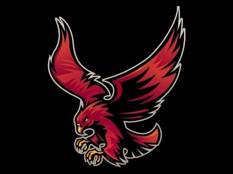 Pin By Chris Basten On Hawks Falcons Logos Logo Design Infinity Bird Logos Esports Logo