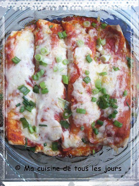 Ma cuisine de tous les jours: Enchiladas fromagés aux courgettes