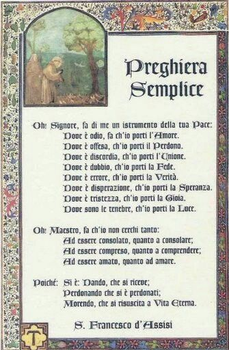 Preghiera semplice S. Francesco:
