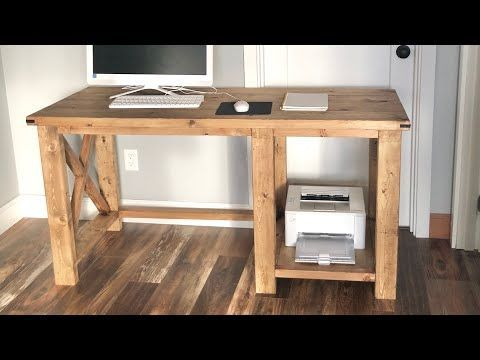Diy Desk Discover Rustic X Desk Build Your Own Farmhouse Desk With Free Plans From Ana White Com Uses All Off T In 2020 Diy Wood Desk Diy Desk Plans Diy Computer Desk