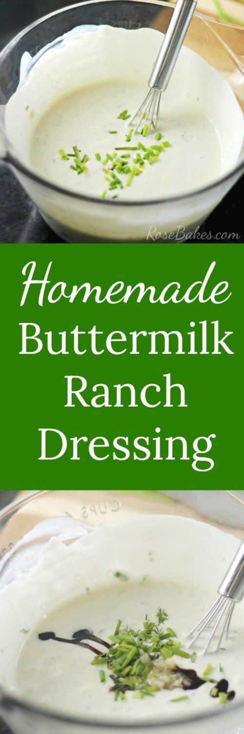 ... Buttermilk Ranch Dressing, Homemade Buttermilk and Ranch Dressing
