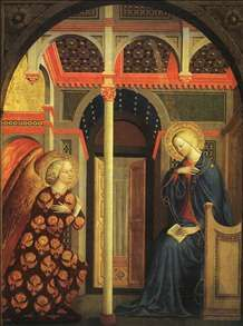 The Annunciation  Masolino Da Panicale  National Gallery of Art, Washington