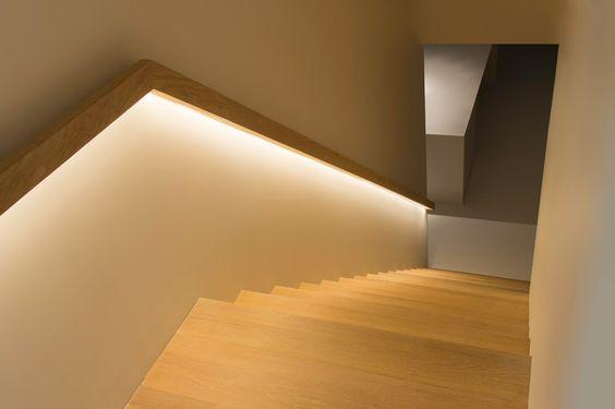 Trapleuningen decotrap pinterest led forma y iluminaci n de la escalera - Deco trap ...