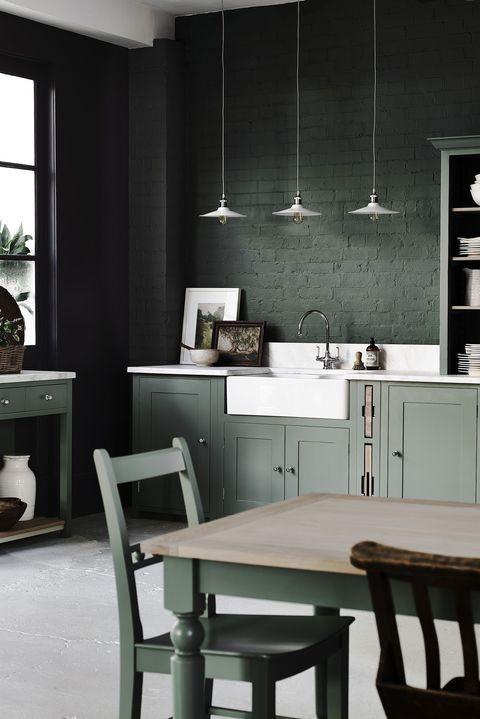 Dark Green Kitchen Chairs