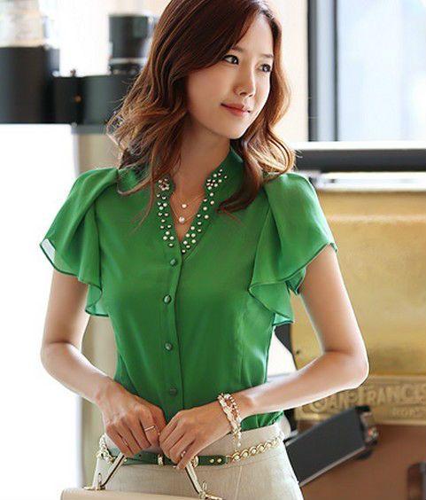 el último 2013 nuevos modelos de blusa de moda para damas superior ...