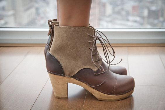 Phoebe 2-Tone Boot by Bryr Clogs