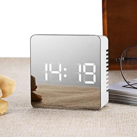 Luxury Mirror Alarm Clock in 2019 | Alarm clock design, Led ...