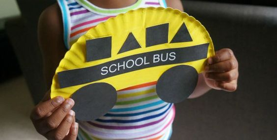 Looking for fun and easy back to school crafts for kids? Here's a fun school craft idea - make this cute paper plate school bus shapes craft, so much fun!
