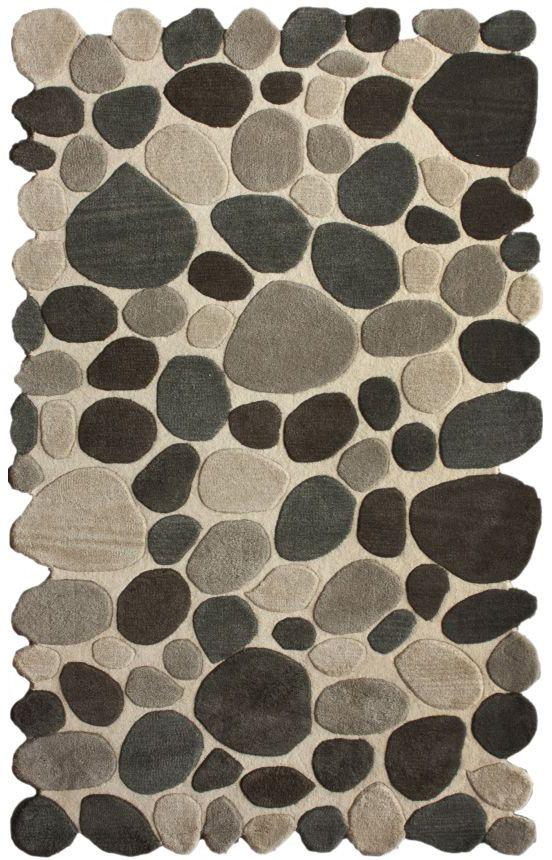 Serendipitycontemporary Handmade Wool Pebbles Cobblestone