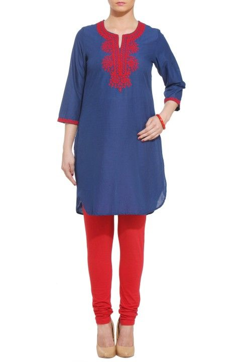 3/4 Sleeve Straight Kurta