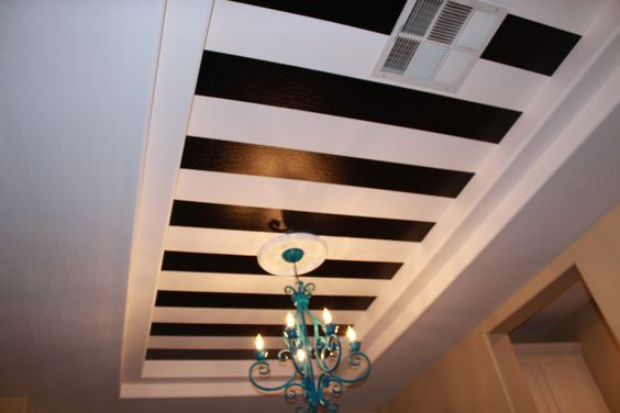 stripes and repainted chandelier
