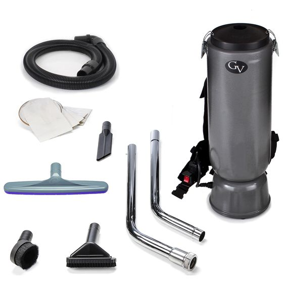 GV 10-quart Commercial Backpack Vacuum With Restaurant/Industrial/Commercial ProTeam Tool Kit