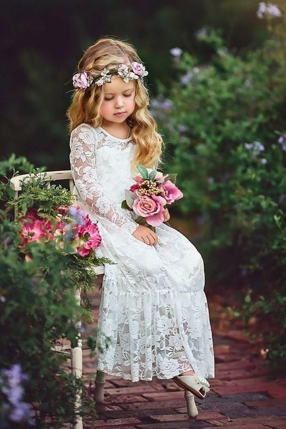 First Communion Sleeveless Birthday Princess Party Flower Girl Dress Toddler Boho Chic Tulle Baby Dress Blush Lace Dress Photography