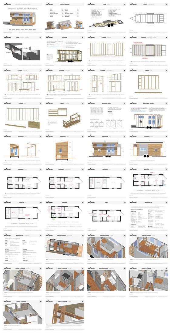 Tiny Project Tiny House Floor Plans Construction Pdf Sketchup Tiny House On Wheels Tiny House Movement Modern Tiny House