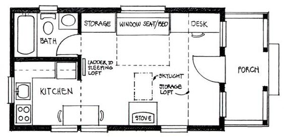 Cottage home plans sleeping loft and cottage homes on for Sleeping cabin plans