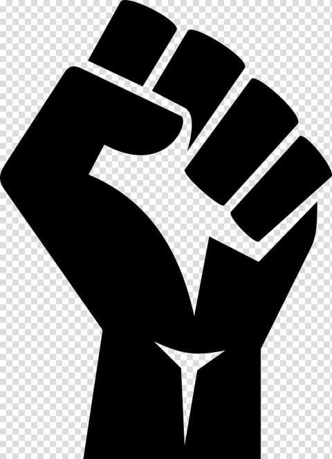 12 Black Power Fist Icon Png