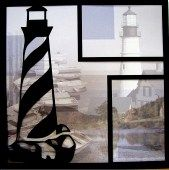 EZLaserDesigns : New England Lighthouse Art  scrapbook overlay vacation travel layout