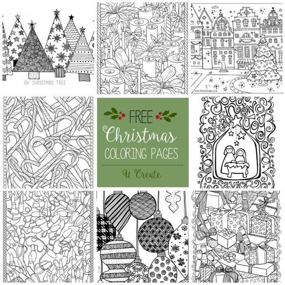 Free Christmas Adult Coloring Pages | Holiday Printables | Pinterest ...