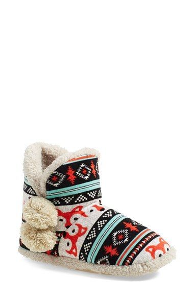 $36 kensie Fair Isle Faux Shearling Slipper Boot (Women) available at #Nordstrom